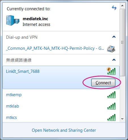 Connect to LinkIt_Smart_7688