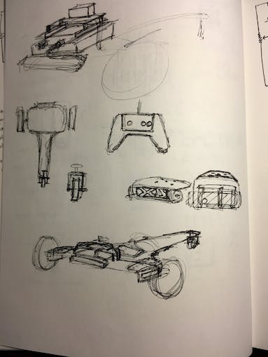 More sketches of possible revision.