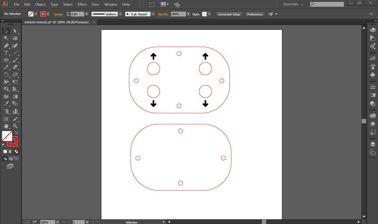 Remote Control Design for Laser Cutting