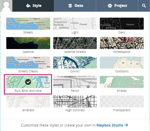 Specifying the map style