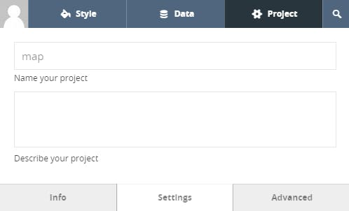 Name your project in the Settings tab