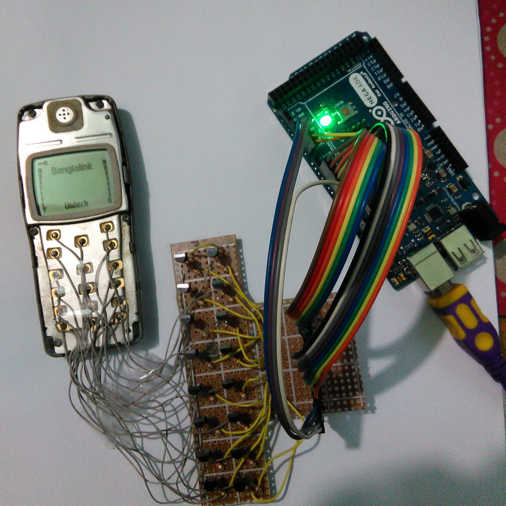 My old phone arduino phonoduino Hacksterio