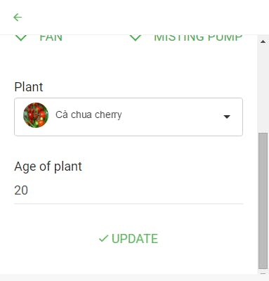 Choose the plant for your season and input age of your plant