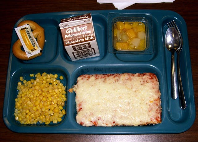 typical tasteless cafeteria food