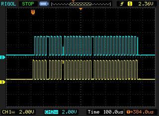 hacked pulse train