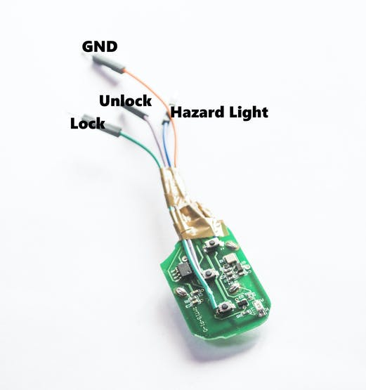 Hacked Keyless entry/Remote entry System board