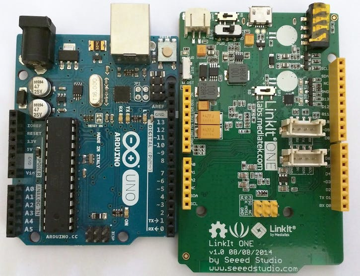 Arduino UNO and LinkIt ONE