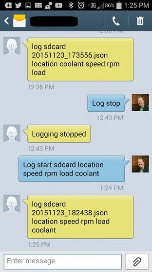Sample conversation with my car