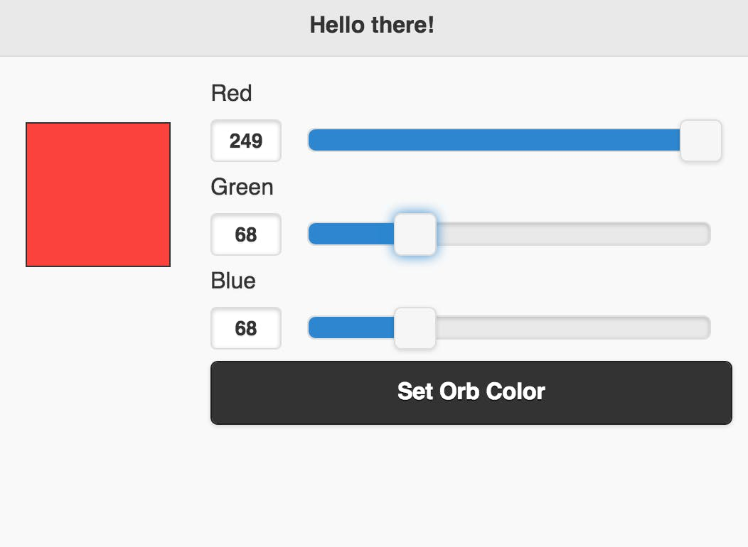 The simple, mobile friendly Orb color changing UI