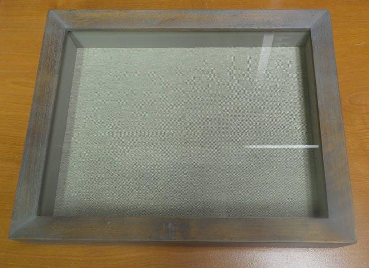 A deep frame called a shadow box