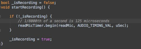 using a timer to read the microphone every 62 microseconds