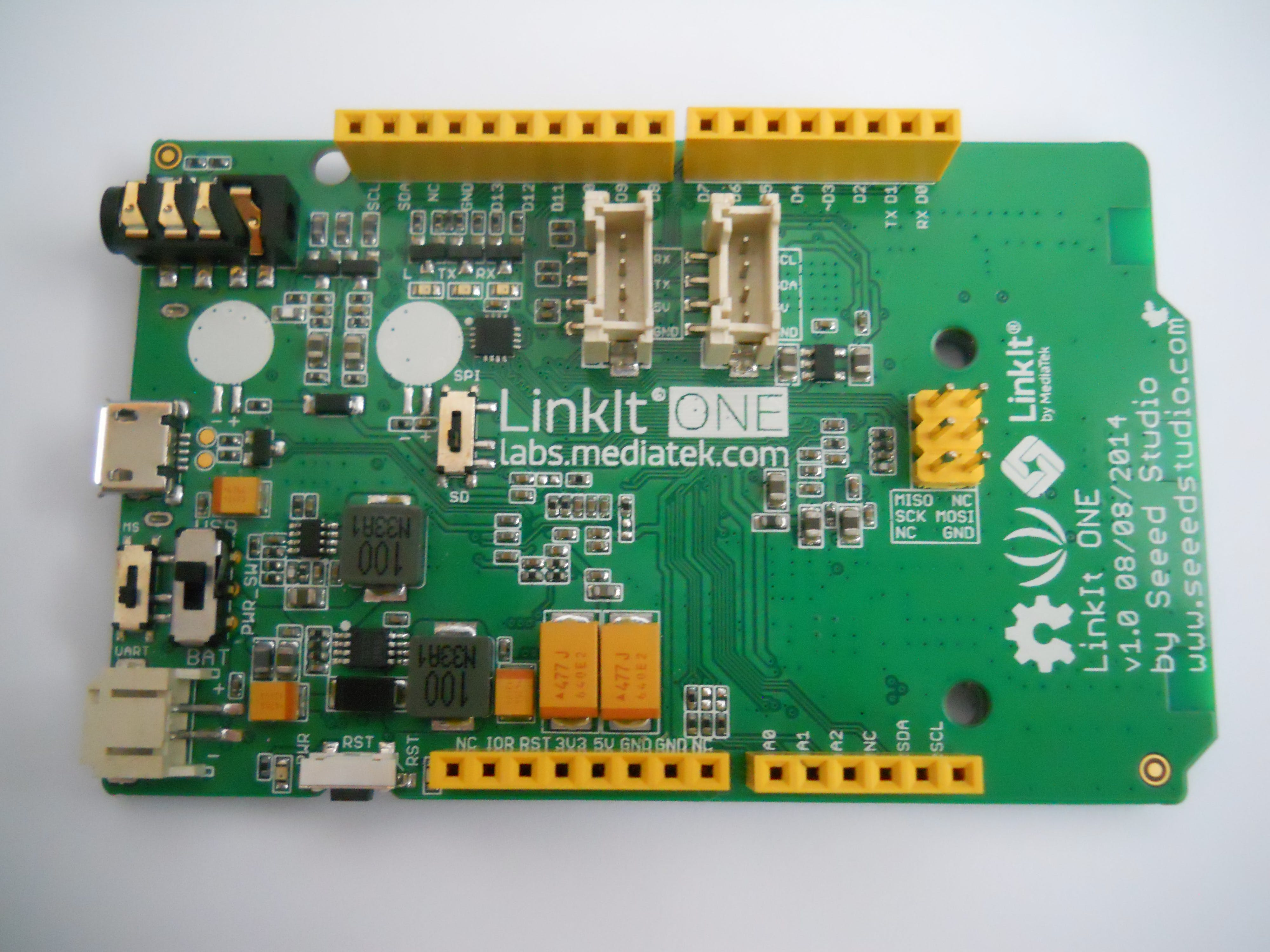 The front view of the board.