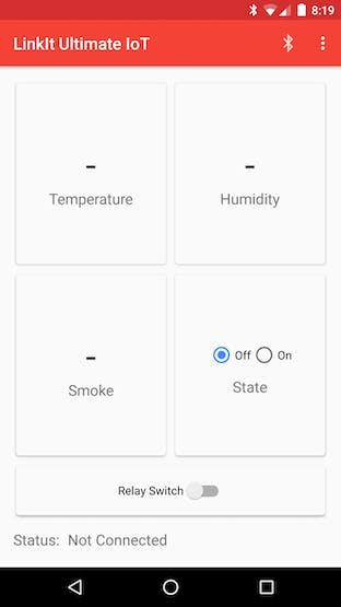 My app's home screen