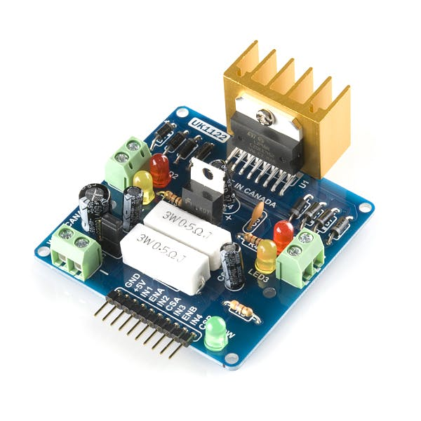 Dual H-Bridge motor drivers L298