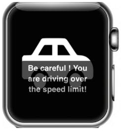 Notification for Driving Over the Speed Limit
