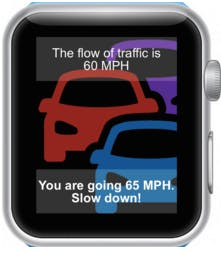 Notification for Driving Faster than Flow of Traffic