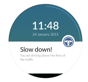Notification for Driving Above the Flow of Traffic