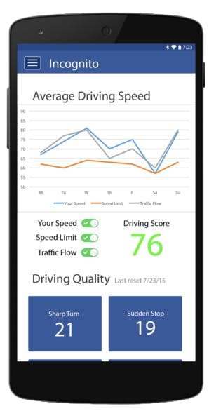 More Interactive Display of Driving Data