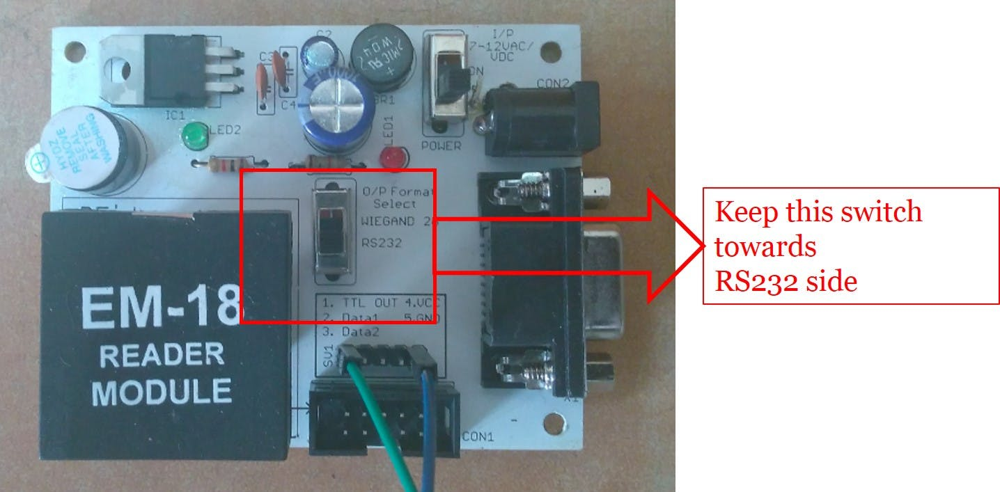 EM-18 RFID Reader Module setup