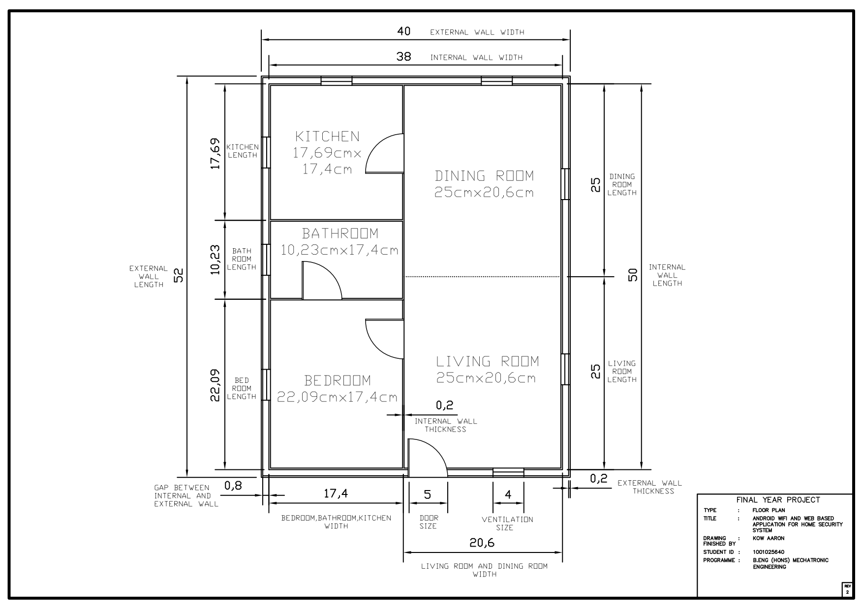 Great ... Home Security Model. Fyp Homesecuritysystem Floor Plan Design