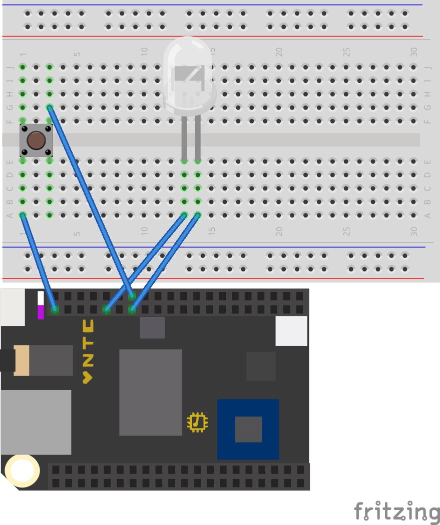 Chip led button bb