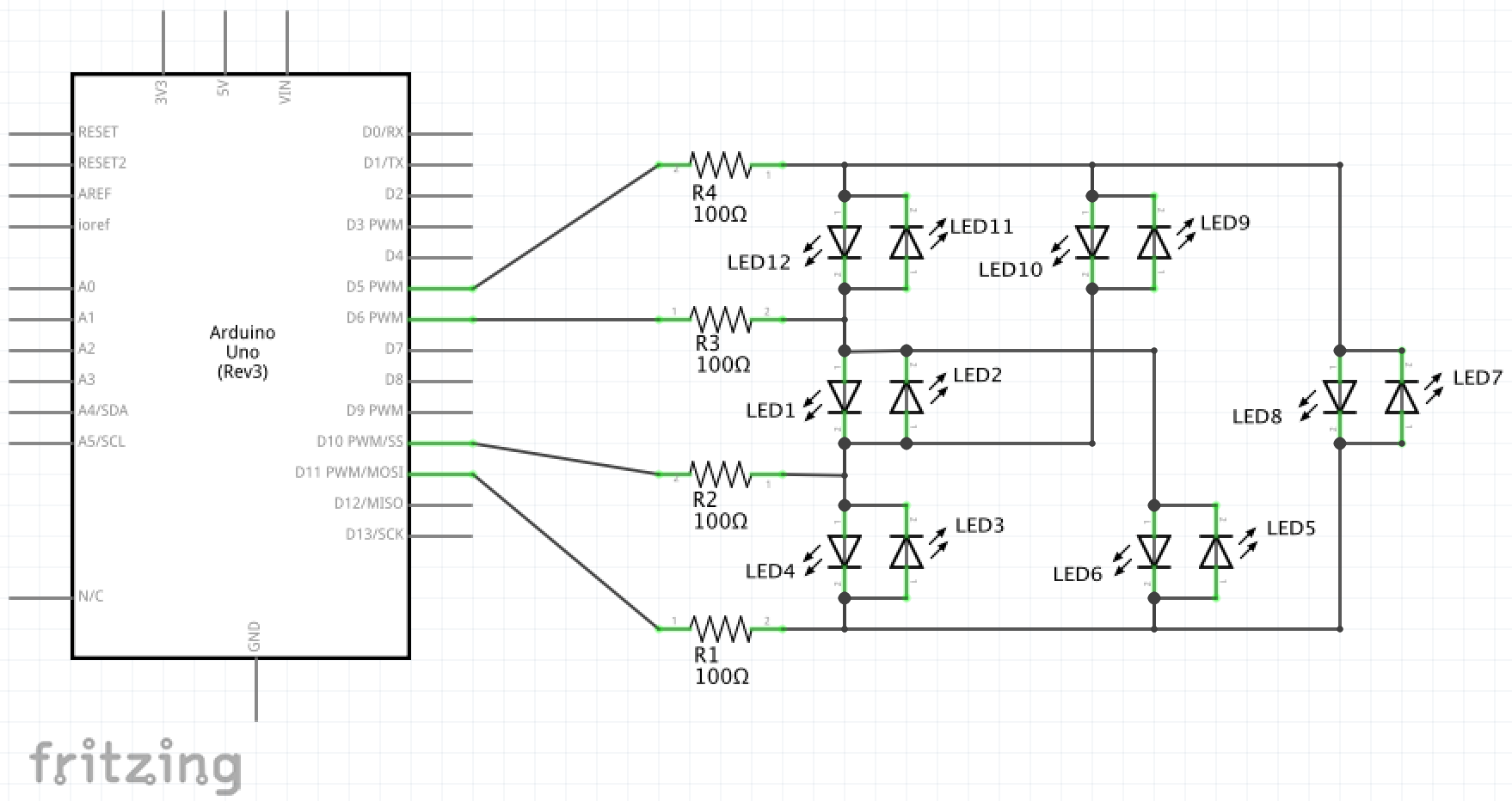 Charlie Chaser Led Circuit Diagram Schematic Charliechaserschematic