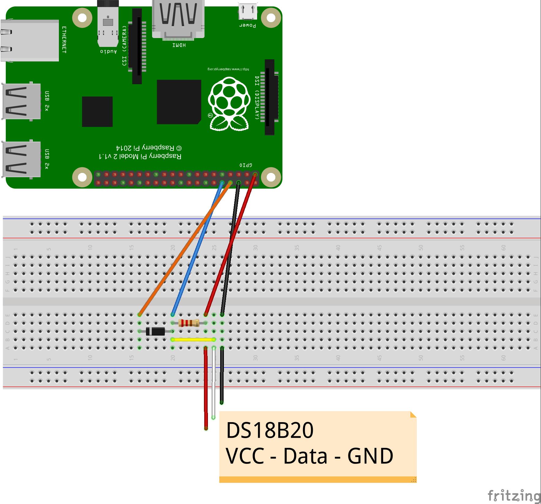1-Wire DS18B20 Sensor on Windows 10 Iot Core/Raspberry Pi 2 ...