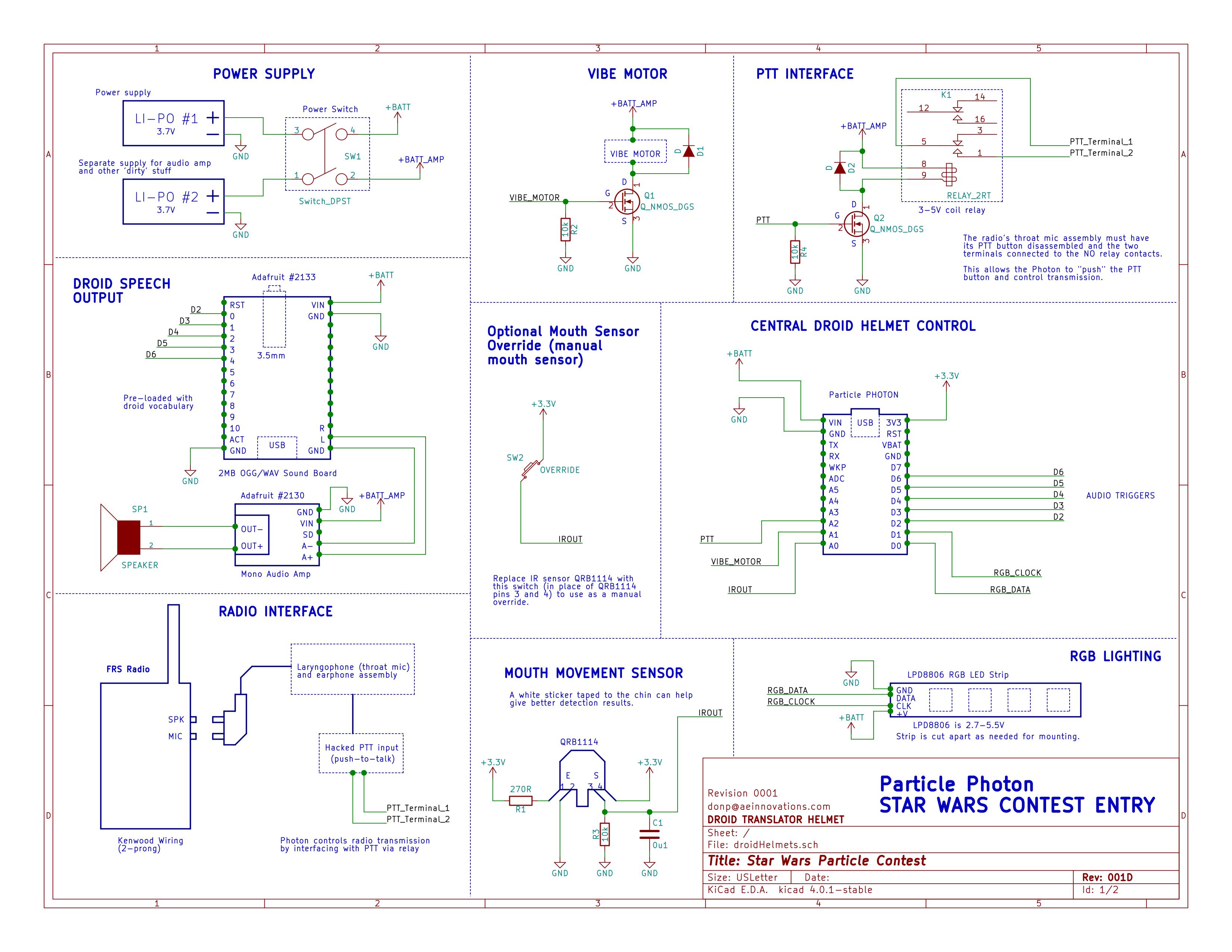 main schematic for one helmet