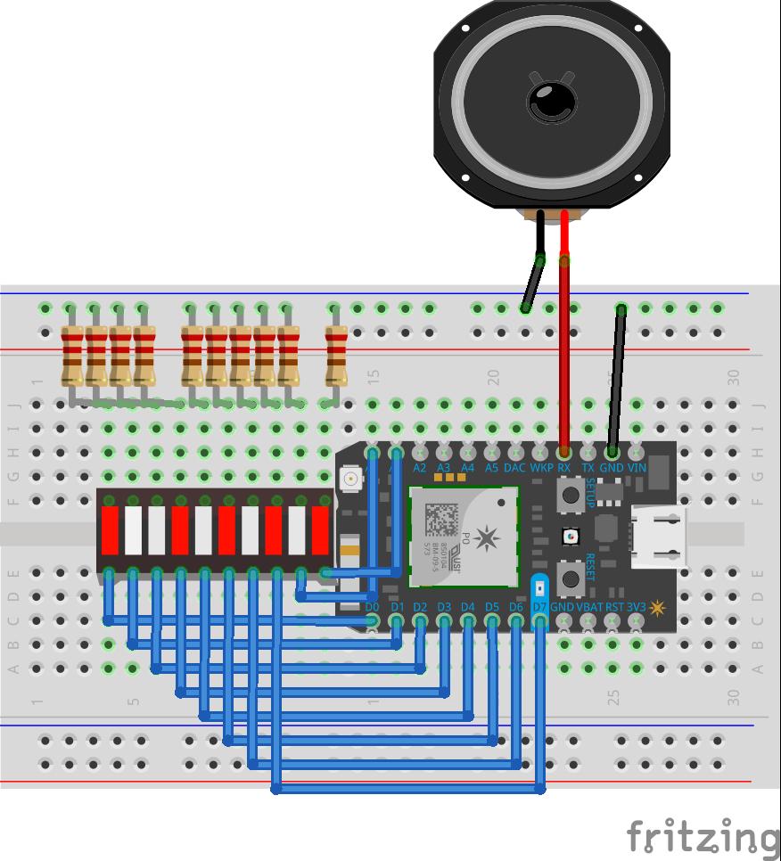 Photon Wifi Strength Meter V2 Circuit Breadboard