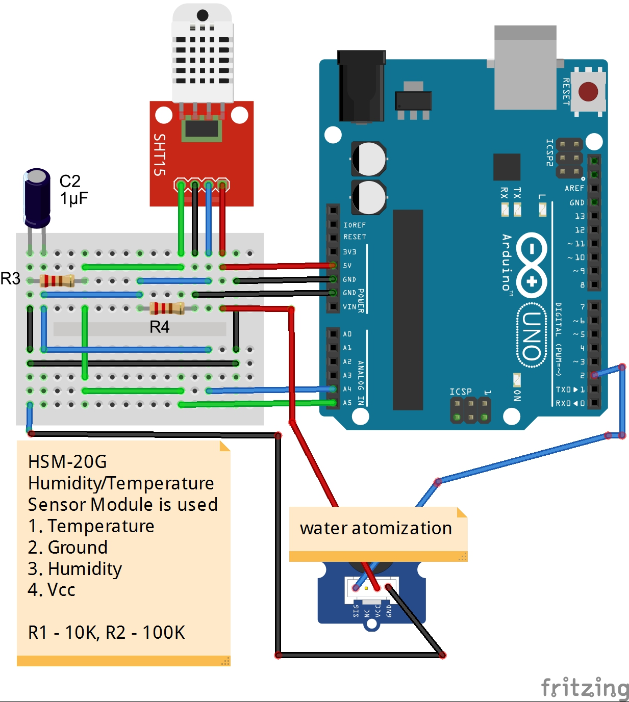Smart Humidifier Humidity Sensor Circuit Diagram Main