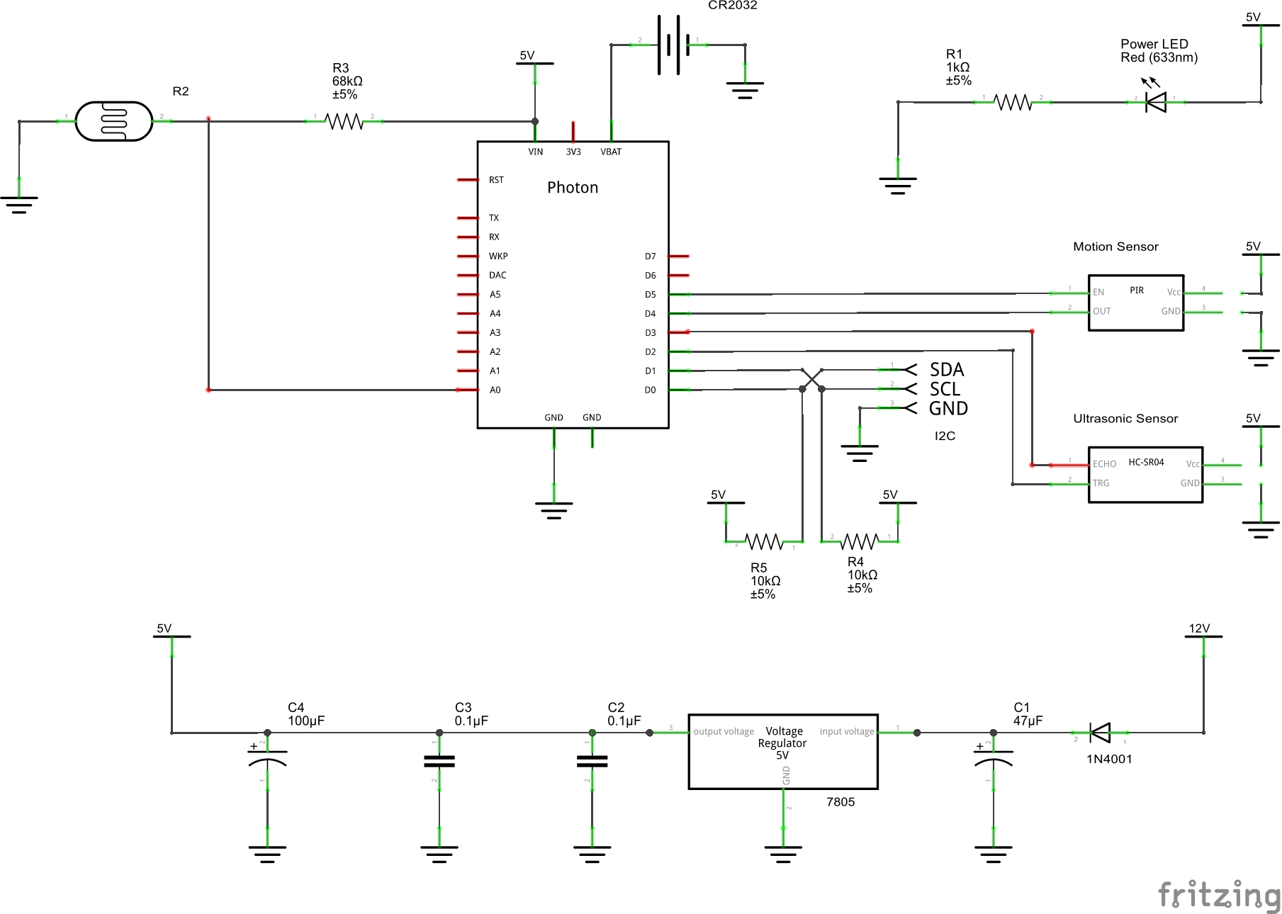 Main controller schem