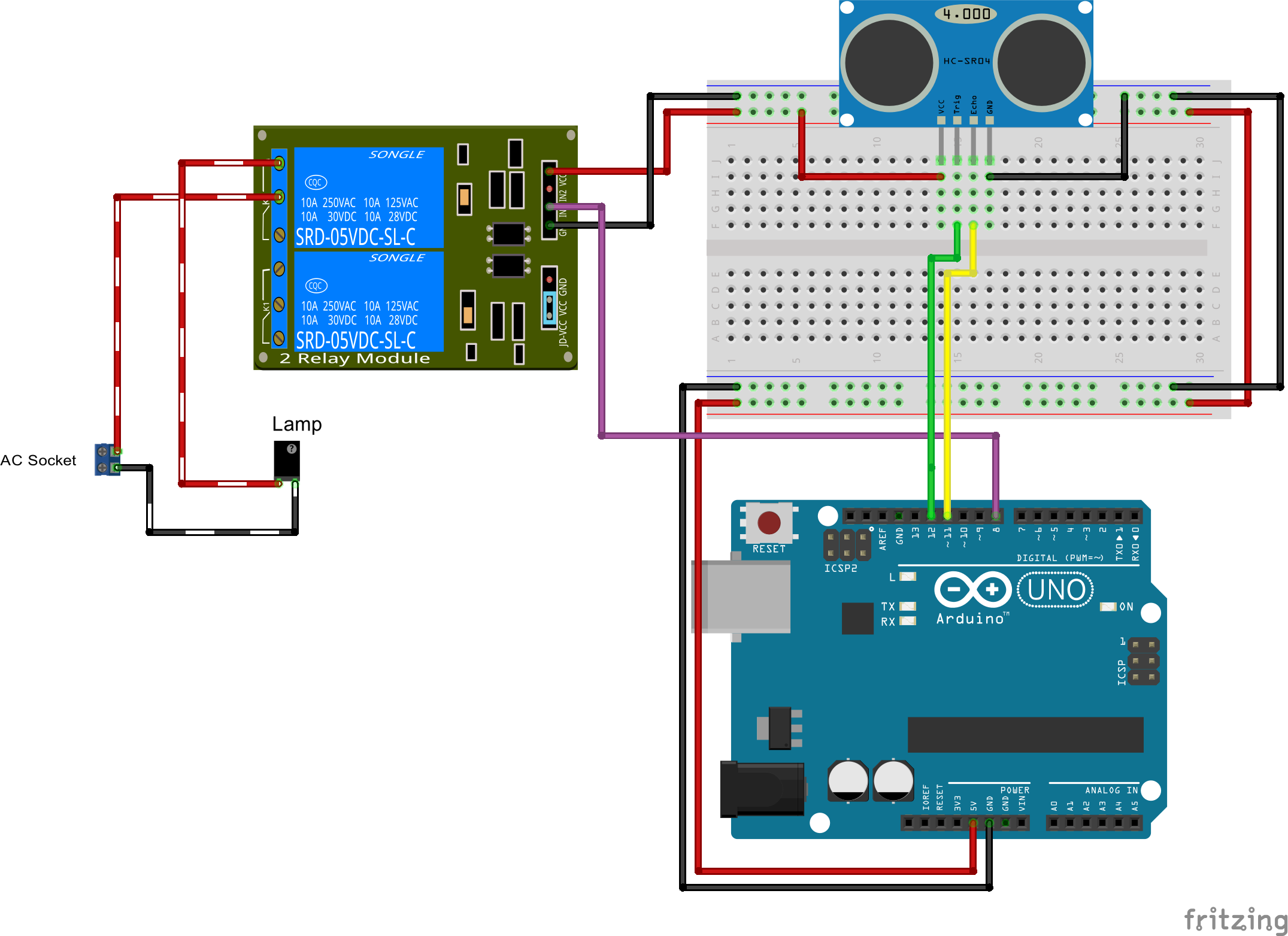 Arduino And Ac Devices Automatic Lights Circuit By Using A Relay To Operate The Mains Appliances An Ir Smarthouselight 1