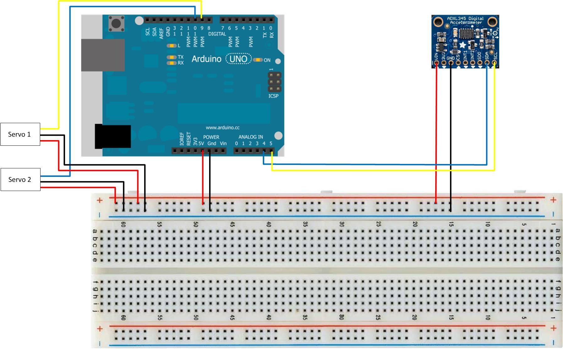 Level Platform Using Accelerometer Circuitschematic Schematic