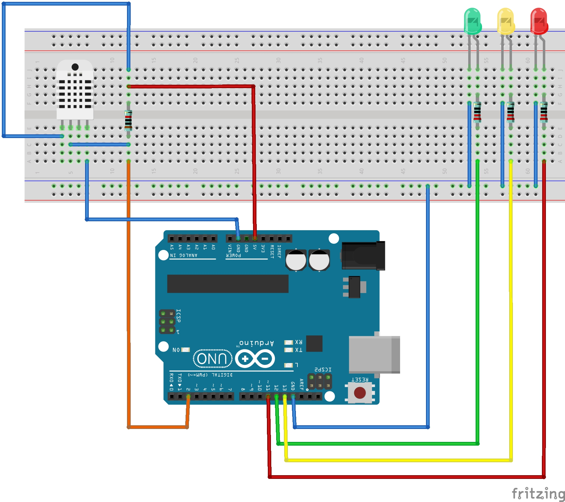 Dht setup with simple error checking hackster
