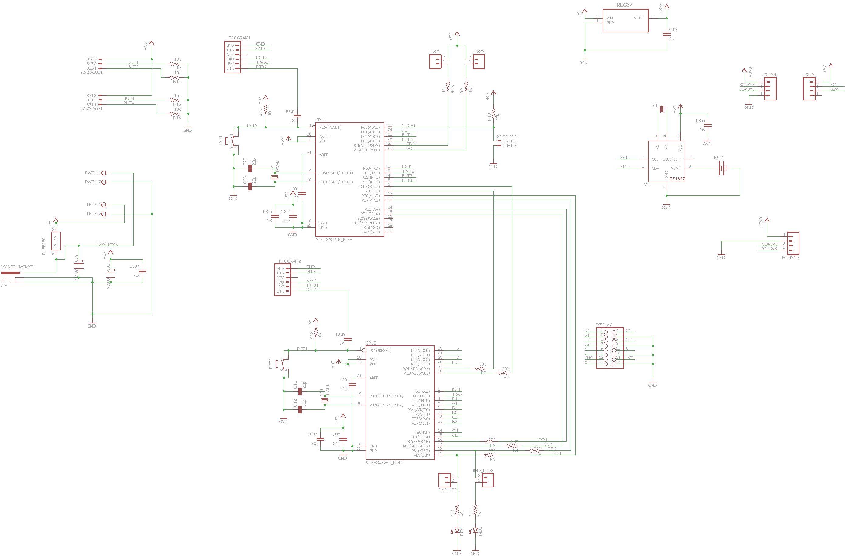 Arduino Based Clock Using 16x32 RGB LED Matrix - Hackster io