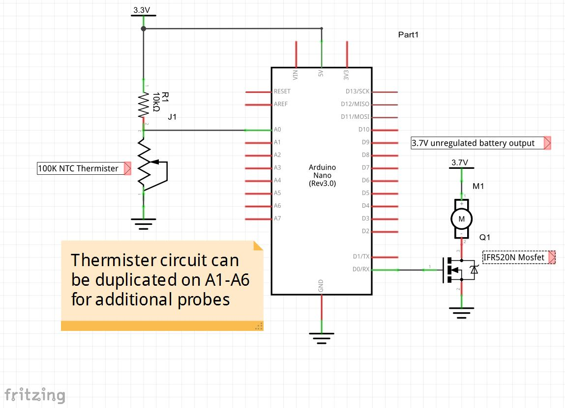 Temperature Controled Charcoal Smoker - ster.io on photocell schematic, arduino schematic pdf, arduino shield schematic, arduino micro schematic, speaker schematic, arduino pinout diagram, arduino pro schematic, arduino mini schematic, arduino r3 schematic, attiny85 schematic, ultrasonic schematic, arduino board schematic, arduino led schematic, arduino lcd schematic, arduino relay diagram, arduino mega schematic, arduino uno schematic, arduino ethernet schematic, arduino circuit schematic, breadboard schematic,