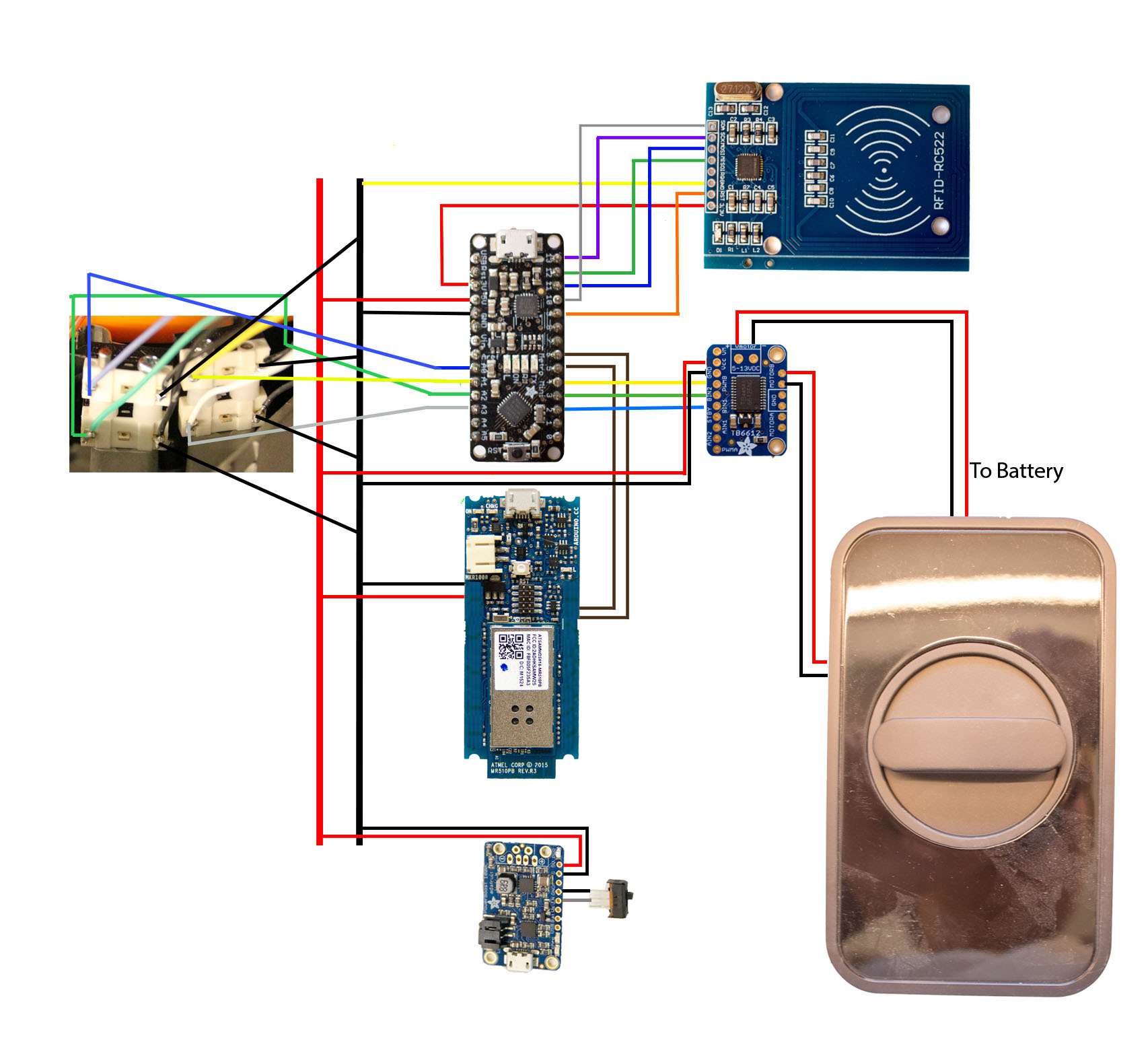 Rfid Door Schematic Electrical Drawing Wiring Diagram Circuit Unlock Hackster Io Rh Passive System