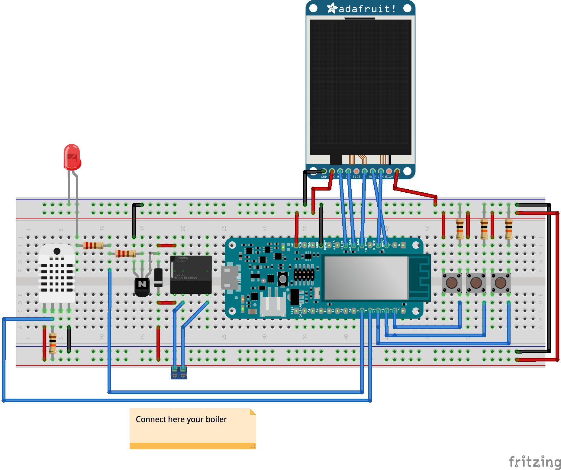 Smart Thermostat Furnace Controller Schematic Layout Thermofritzing