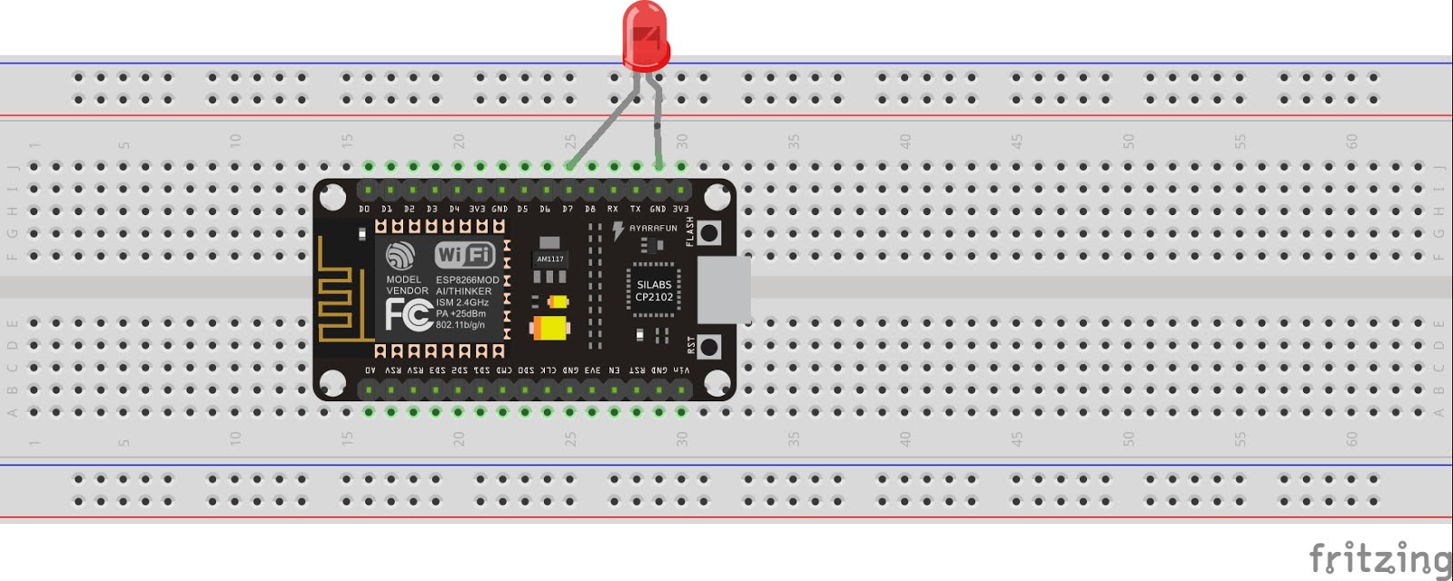 Getting Started With Esp Nodemcu Using Arduinoide Circuit Diagram Tutorial Connection Schematic Follow The For Connecting Module