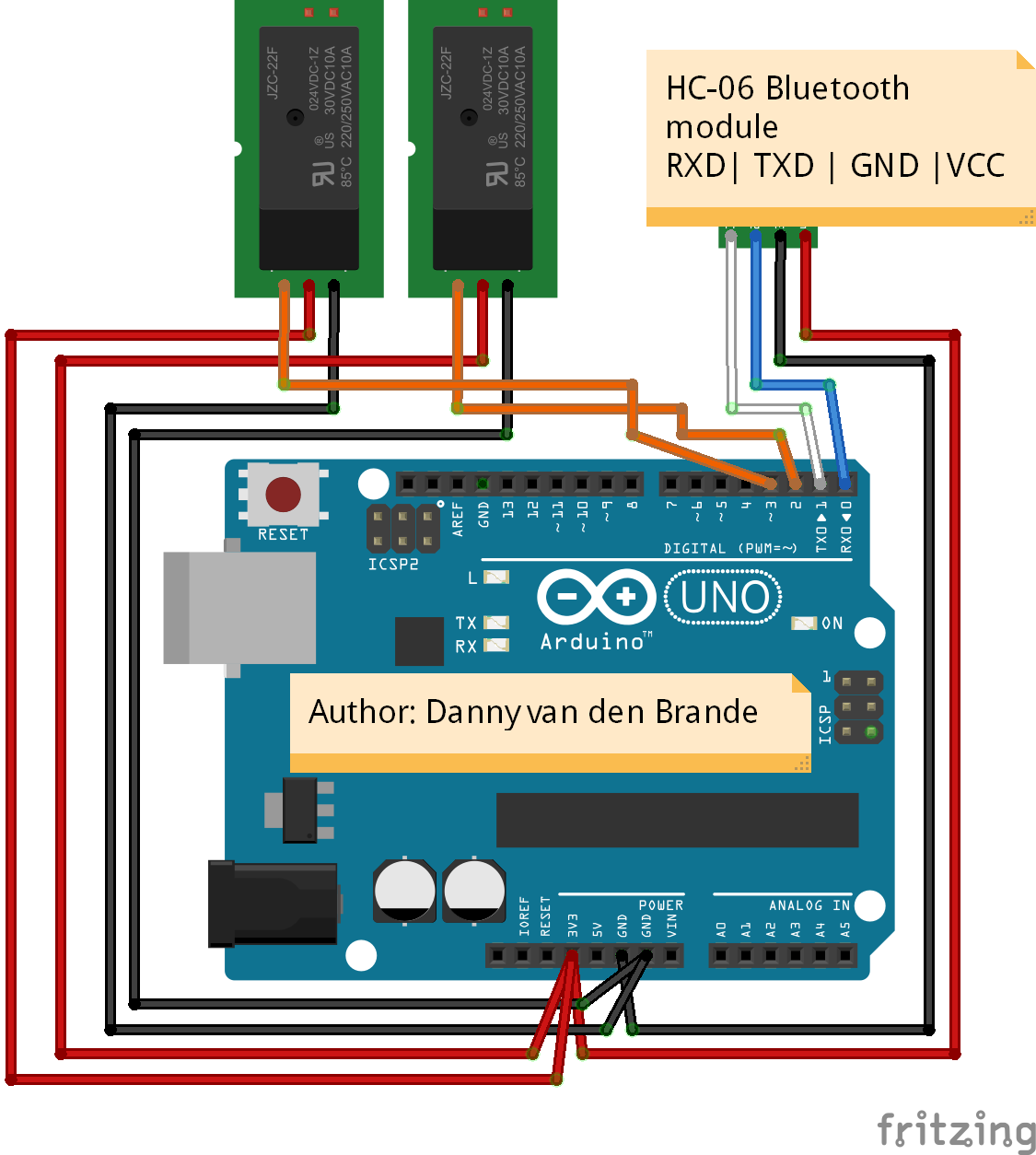 Arduino Android Bluetooth Home Control App Hc 06 Simple Remote For Appliances Circuit Diagram Schematic