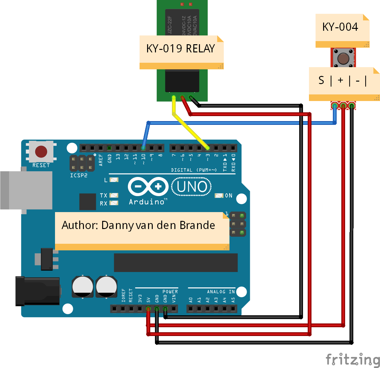 Arduino Panic Alarm Relay With Ky 019 Example Button Wiring Schematics