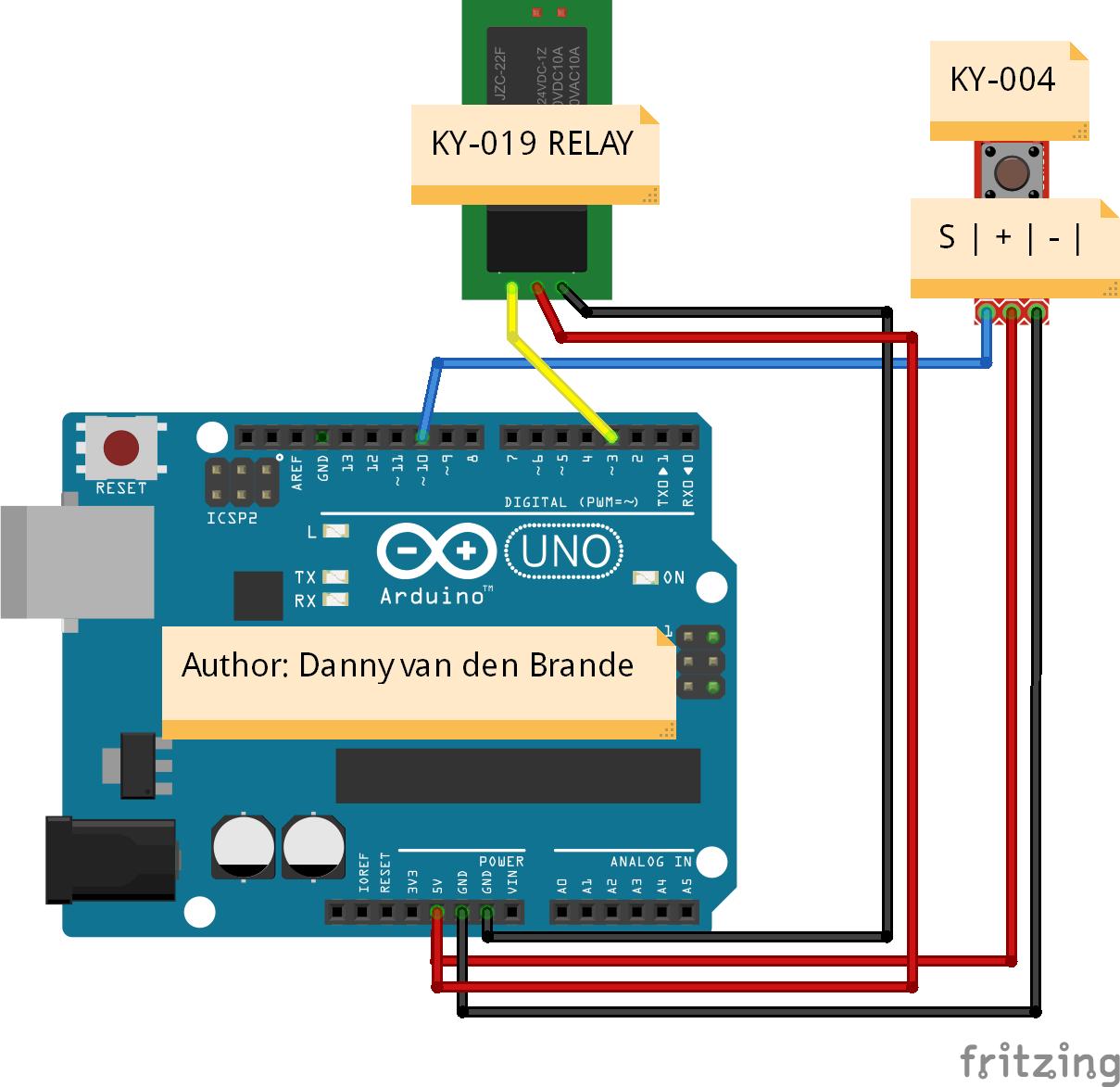 Arduino Panic Alarm Relay With Ky 019 Example Rangkaian On Off Schematics