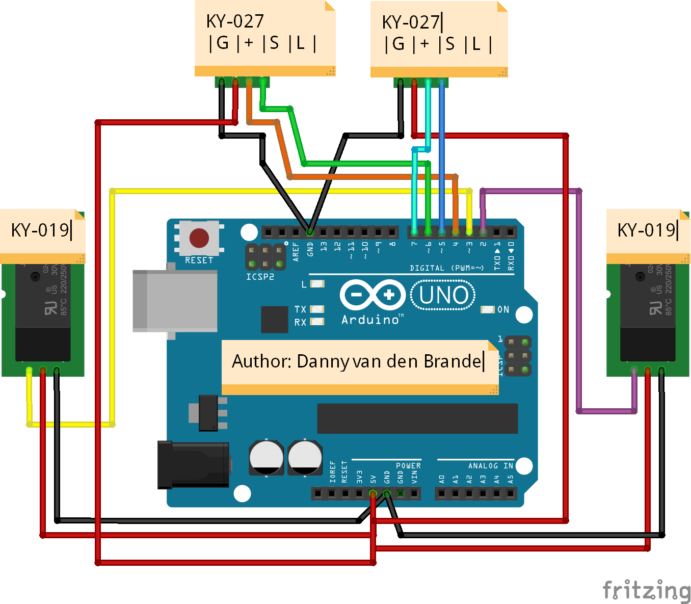 Arduino Mercury Switch Tilt Alarm With The Ky 027 Set 900 Wiring Diagram Schematic