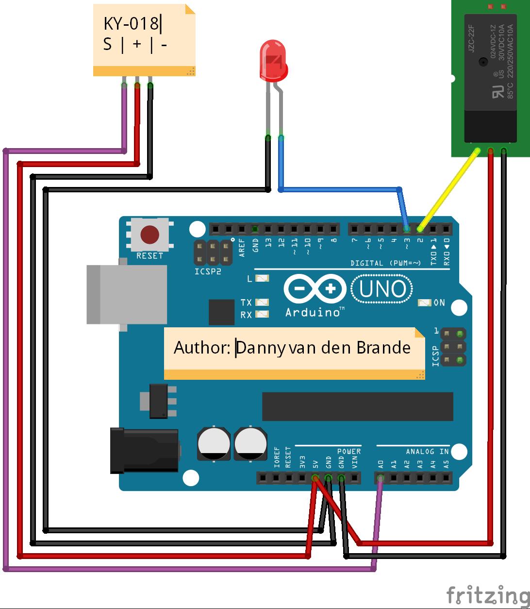 arduino photo resistor example ky 018 hacksterio