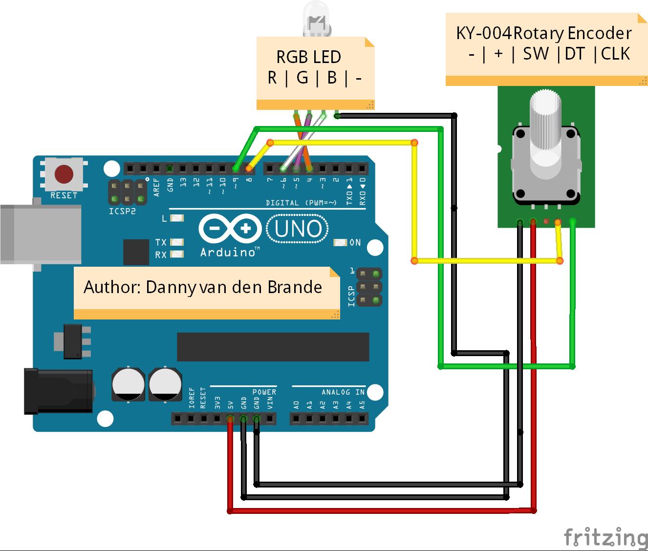 Arduino Rotary Encoder Simple Example Ky 040 Hackster Io