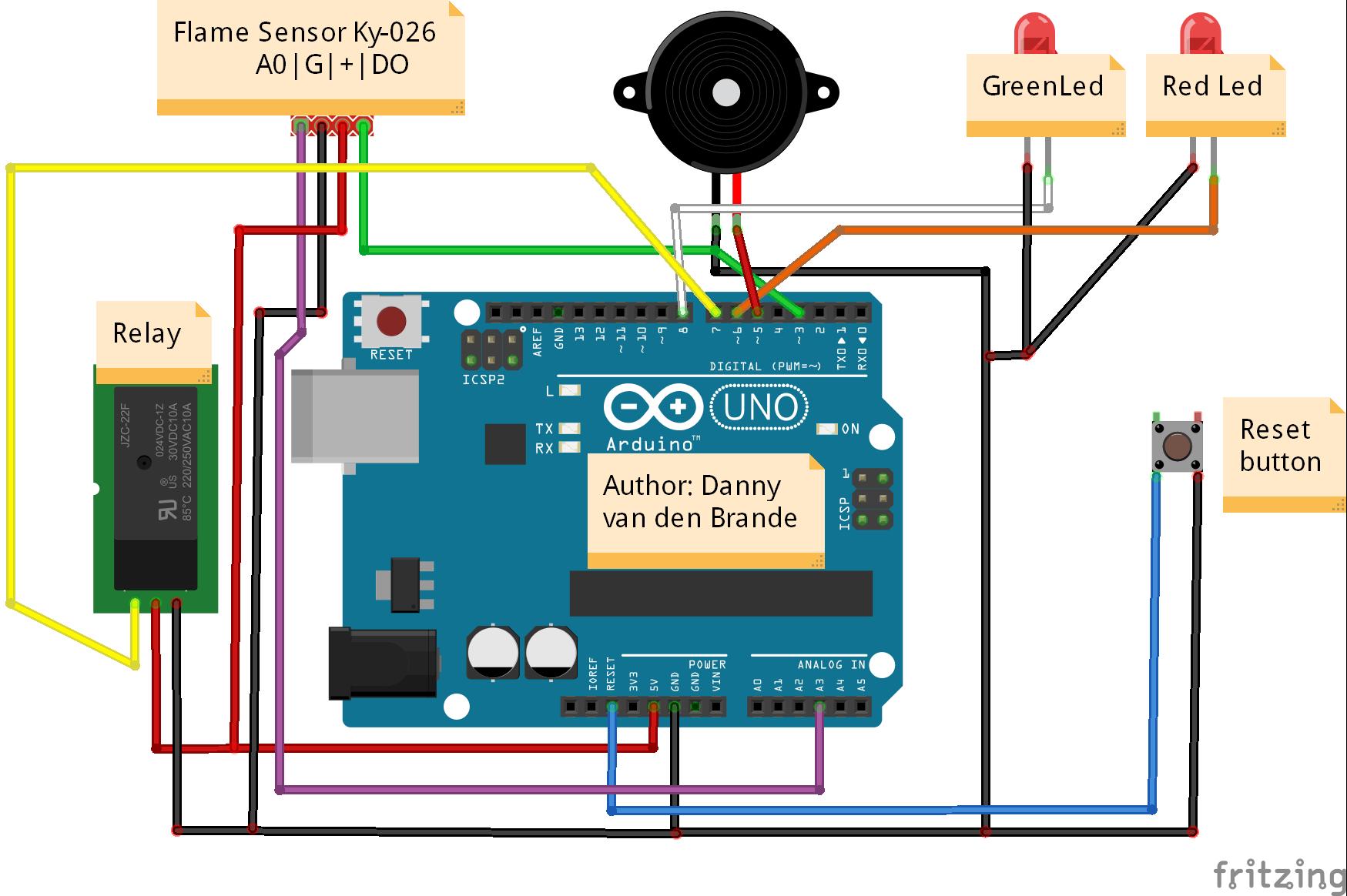 Diy Flame Sensor Alarm Using Ky 026 Hackster Io