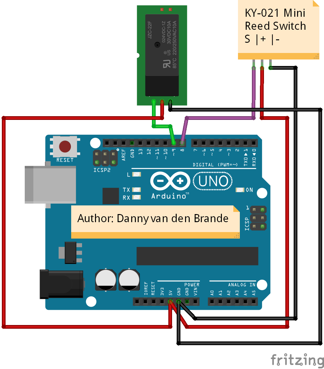 Arduino - Magnetic Reed Switch KY-021 - Hackster.io