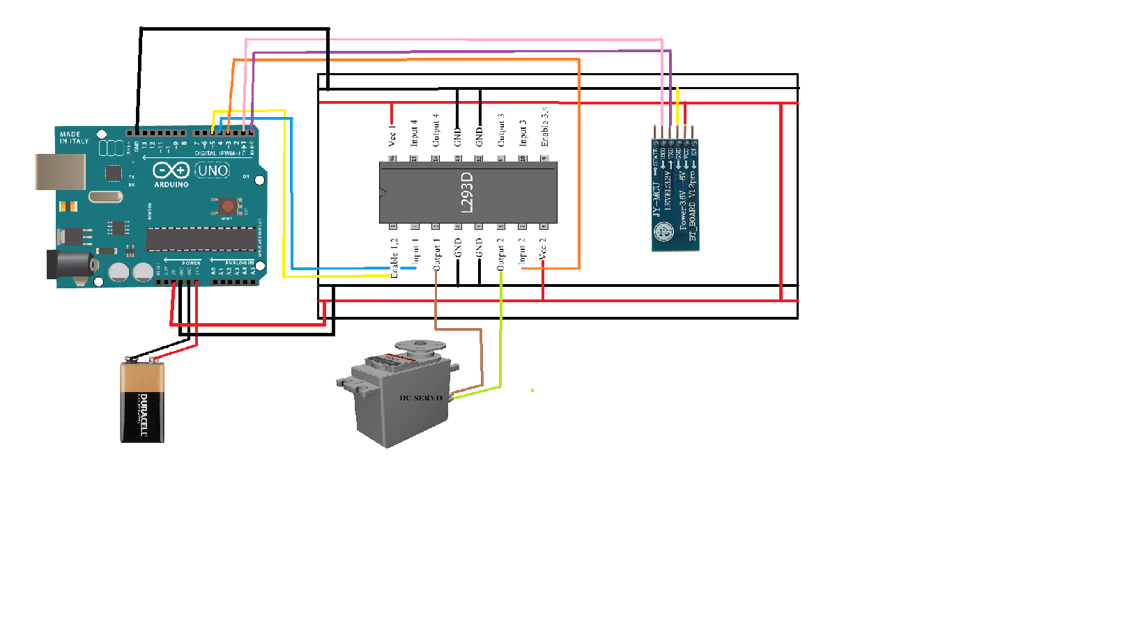 Bluetooth Controlled Light Switch Solar Tracker Relay Circuit Using Arduino Schematic