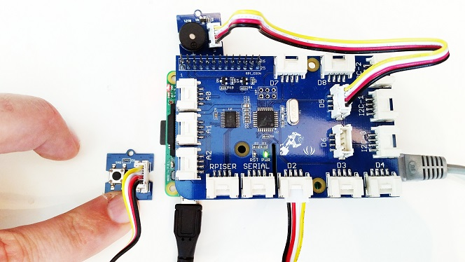 Grovepi button buzzer setup hardware