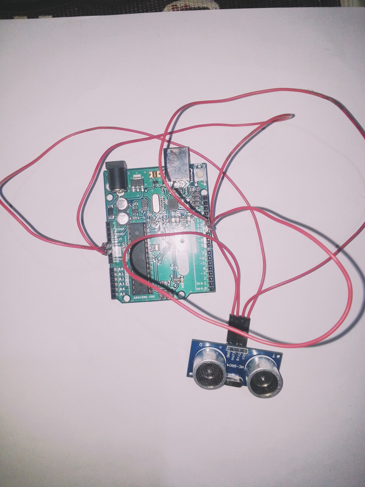 Ultrasonic Range Detector With Arduino Sensor Circuit Consists Of A Set Receiver And To